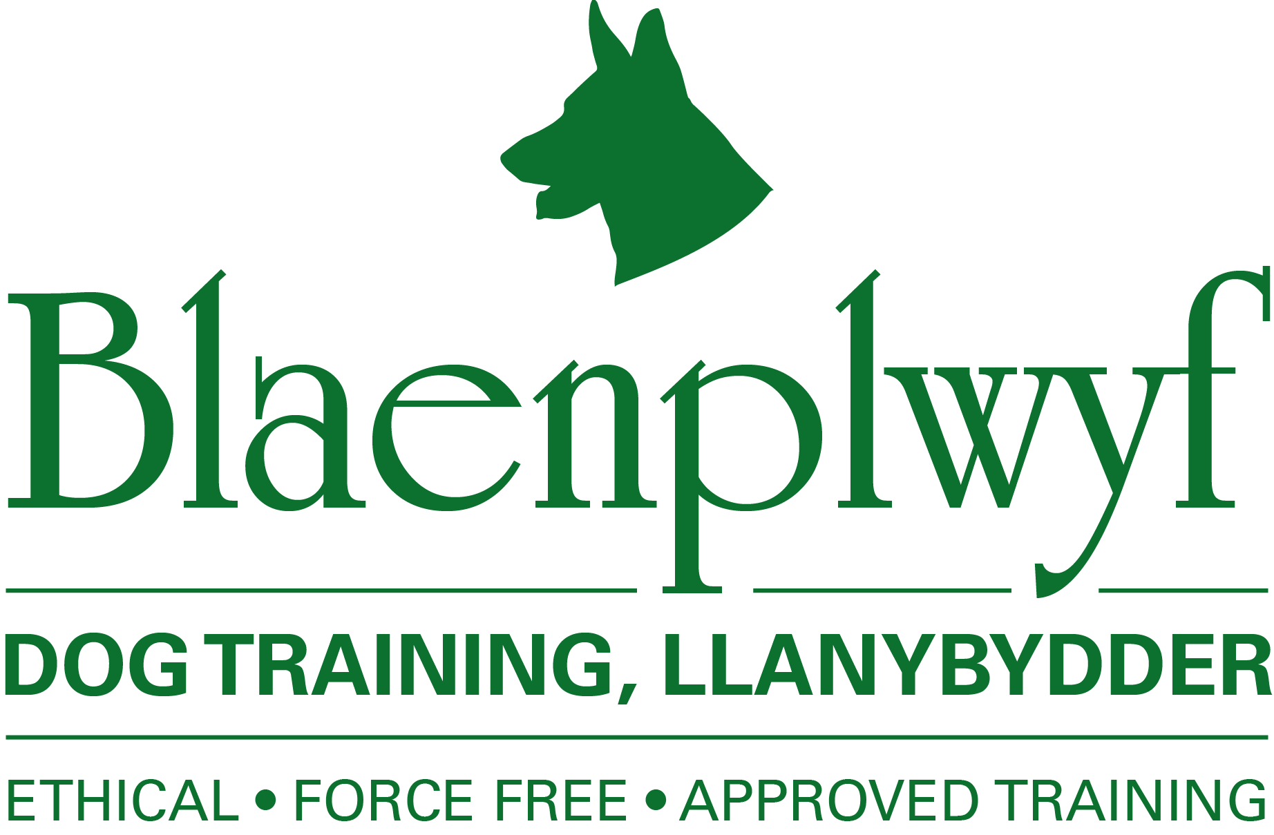 Blaenplwyf Dog Training Logo